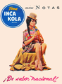 Ad for Inca Kola.