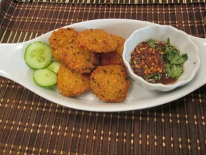 photo of chickpea fritters